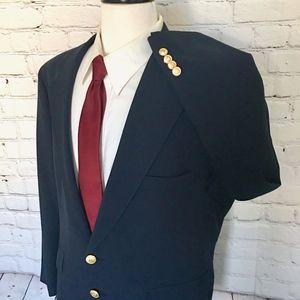 Polo University Club Navy Gold Button Sport Coat